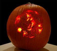 Dragon Pumpkin by XylidineGriffin