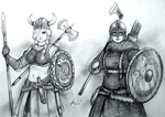 Women Warriors: Horny Viking vs Historical Viking by Gambargin
