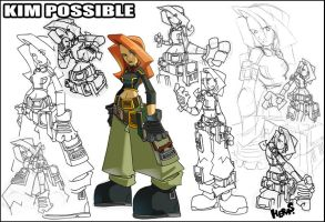 Sketches-Kim Possible Dos by herms85