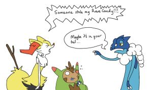Detective work with Frogadier by notabondvillain