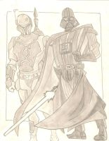 Vader and Boba Fett by stipher30
