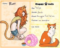 Happy Tails: Rust reference by Despereaux-7