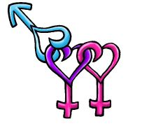 Bisexual Female Symbol by Emo-Girl-AlexaUchiha