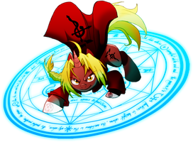 Edward Elric pony by Ashuras2000