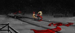 Red on snow by Lenika86