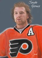 Claude Giroux Portrait by Sammzor