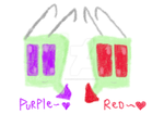 Tallest Red and Purple c: by HalfInane-HalfMental