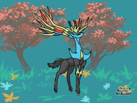 Xerneas Pokemon art academy by mgunnels3