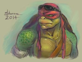 Raphael 2014 (TMNT) by Pax77Vibiscum7Astras