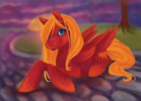 MLP Solar Flare by PlaidRed