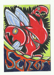 Scizor Badge drawing! by AmericanBlackSerpent