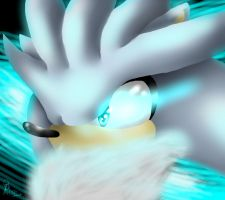 .:Lineless:. Silver the Hedgehog by scrble567
