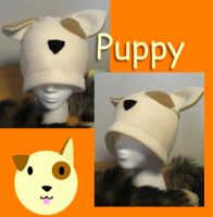 Puppy hat by wingedfox111