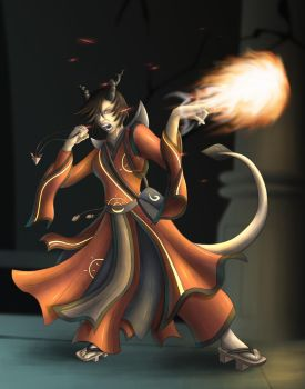 Fire Sorceress by StormXF3