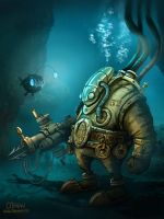 Aquaphandre steampunk by maxpaynt