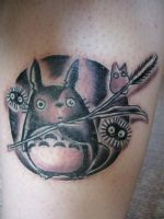 Totoro on my skin by Rei-Namine