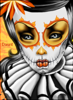 Sunrise Sugar Skull by RazorCheeks