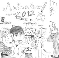 My 5th Anniversary (2007 - 2012) by EdvinDraw