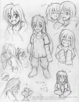 For Zombiefreak88: Tine Sketches by TwilitAngel