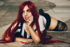 Katarina Red Car cosplay 3 by staisis-lovespurple