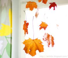 DIY Falling Leaves tutorial by Arctida