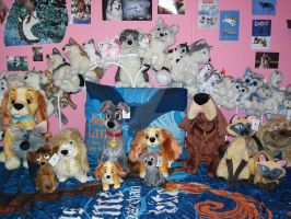 All of the Lady and the tramp plushies by BeautifulHusky