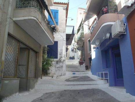 The streets of Poros by Darkstorm64
