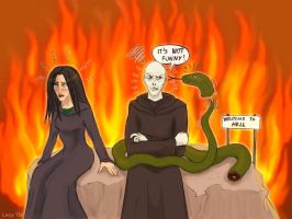 Voldy is not amused by Loony-Lucy
