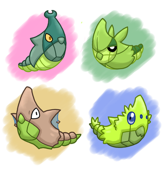 PokeVariant Evolutions: Metapods by Jakzketch