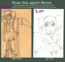 before and after meme by uchihatj23