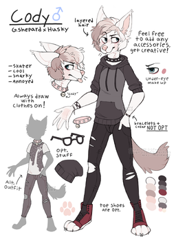 com for fauxll - cody ref by meremolf