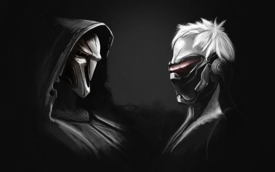 Reaper And Soldier 76 Overwatch by Quatnes
