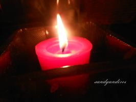 Red Candle by sandyandi146