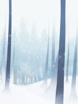 Snowy Forest by KewinArt