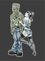 A Monster and His Girl by davincisghost