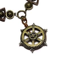 Steampunk Necklace Nautical by CatherinetteRings