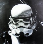 Airbrush Stormtrooper on wood by Airgone