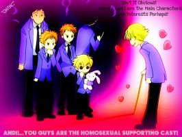 OHSHC Homosexual supporting Cast! by KrazyKat22