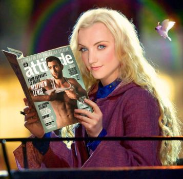 Luna Lovegood with muggle magazine by SaveUzz
