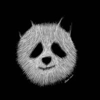 Panda   - scribble art - by eliaim