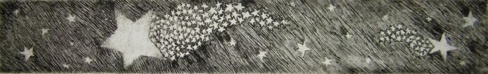 shooting star print by Jaquilin
