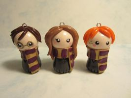 Harry Potter and Friends Chibis by puddingfishcakes