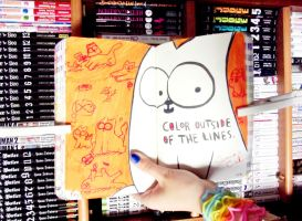 The lines,  my  Wreck this journal by ange-demon