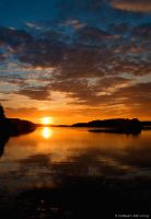 Sunset Ludvika by Elfvingphotography