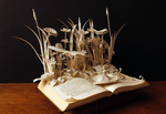 Thumbelina book sculpture by AnemyaPhotoCreations