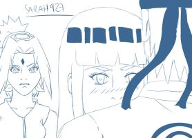 Sketch Naruto and Hinata and Sakura Jealousie  by Sarah927
