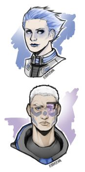 Mass Effect Human AU by FerrumPenna