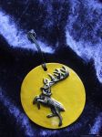 Game of Thrones Pendant - Baratheon Stag Yellow by FireVerseCeramics