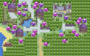 GBA Pkmn hack: Pokemon 6 - Bourg Violet (start) by dragon-du-22