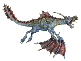 Water Dragon 03 PNG Stock by Roys-Art